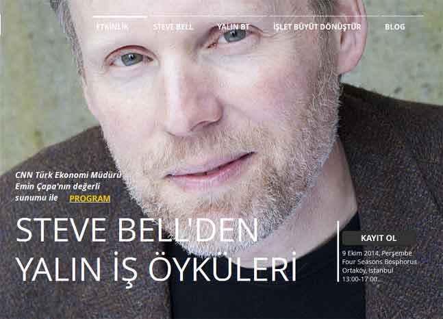 Steve Bell 9 Ekim'de İstanbul'da